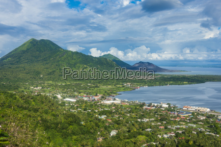 view over rabaul east new britain