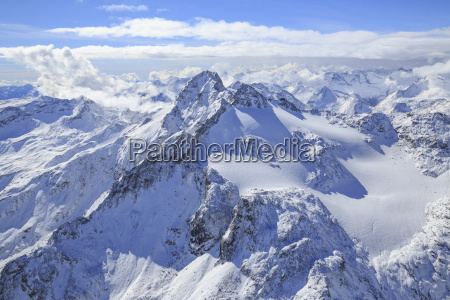 aerial view of peak ferra and