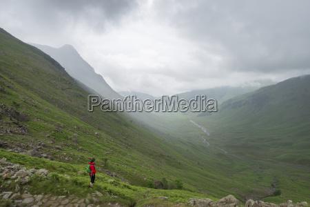 looking down mickeldon valley towards great
