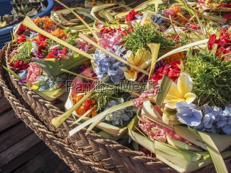 offerings of flowers for sale denpasar