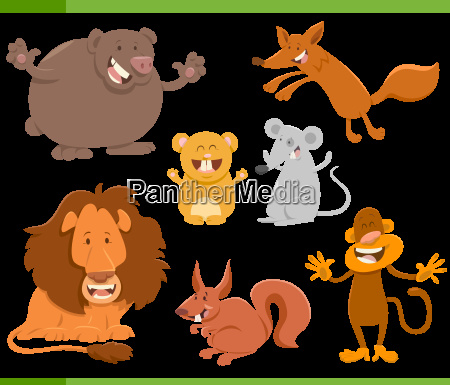 cute animal characters set