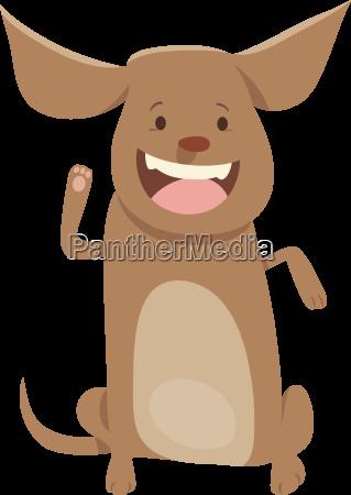 welpen, oder, hund, cartoon-figur - 21051067