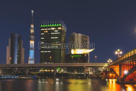 japan tokyo asakusa sumida river and