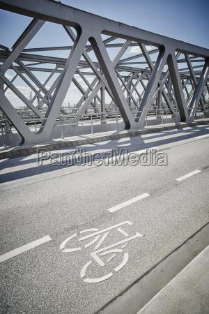 germany hamburg bicycle lane on a