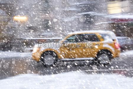 usa, bundesstaat, new, york, new, york, city, gelbe, taxifahrt - 21294786