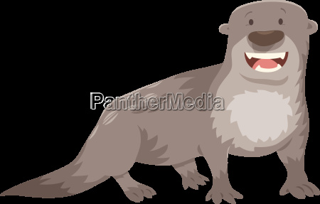 otter cartoon animal character