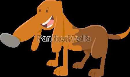 happy spotted dog cartoon