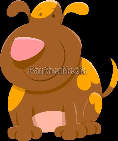 cute spotted dog cartoon
