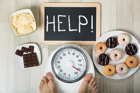 über, gewicht, übergewicht, vorbei, hinüber, maßstab - 21352171