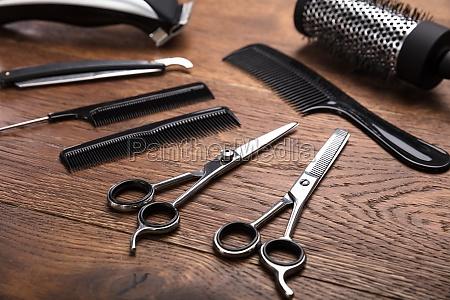 werkzeug, handwerkszeug, garnitur, haarschneider, haarschnitt, hilfmittel - 21352231