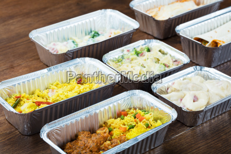 meal in take away containers