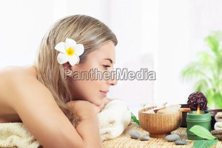 pretty woman at spa salon
