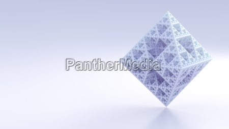 octahedron made of triangles 3d rendering