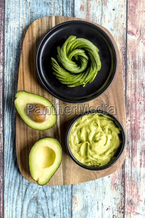 bowl of guacamole and avocado