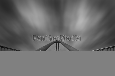 germany duesseldorf empty footbridge at dusk