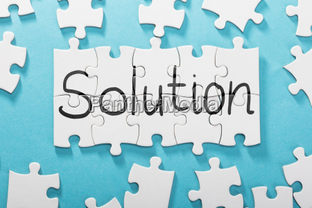 solution word made with puzzle