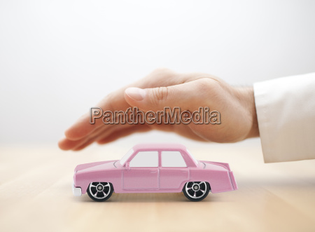 classic old pink car toy covered
