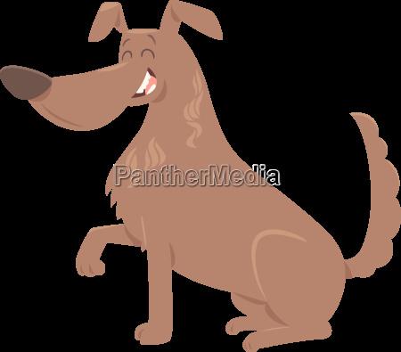 dog gives paw cartoon
