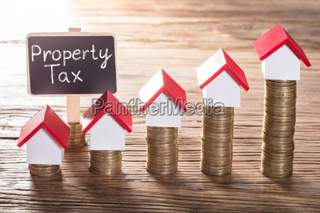 property tax text on small black
