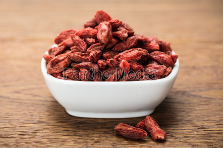 goji berries in white bowl