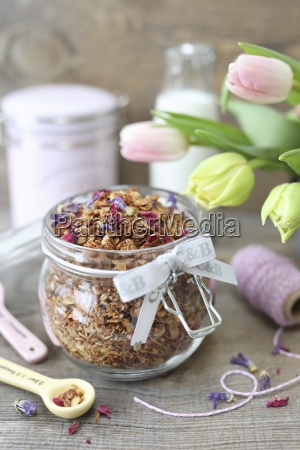homemade granola with coconut sunflower and