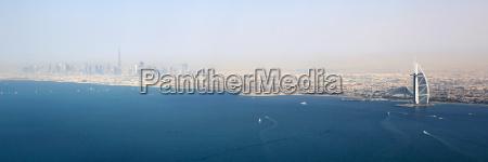 dubai panorama burj khalifa al arab