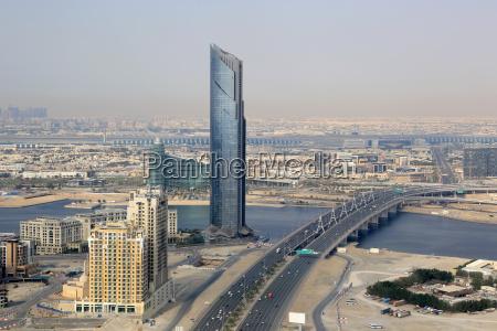 dubai d1 tower business bay bridge
