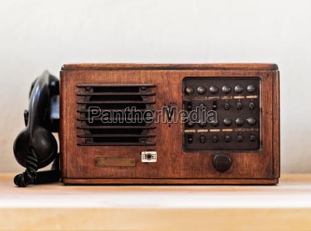 vintage phone studio shot