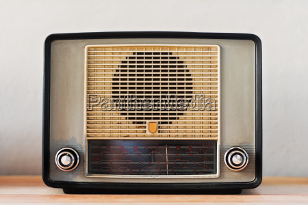 vintage radio studio shot
