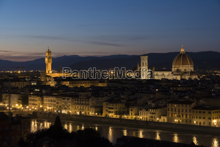italy florence cityscape with palazzo vecchio