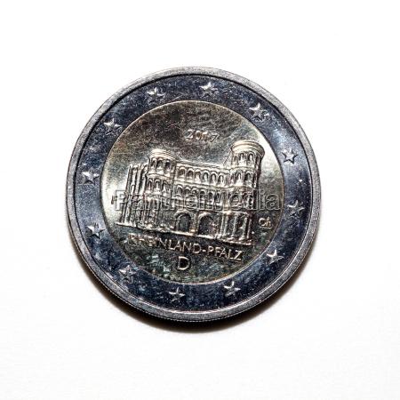 porta nigra auf der zwei euro